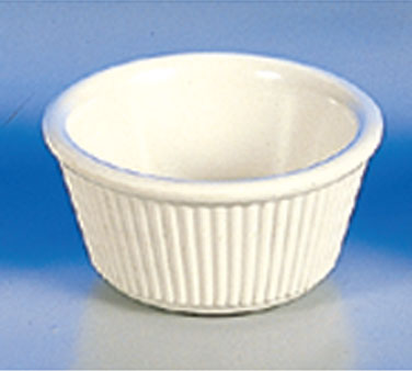 Thunder Group ML531B Fluted Ramekin, Bone 3 oz. - 4 doz