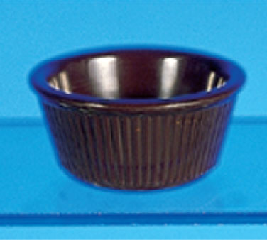 Thunder Group ML531C Fluted Ramekin, Chocolate 3 oz. - 4 doz