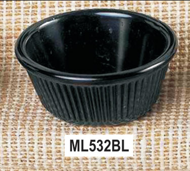 Thunder Group ML532BL Fluted Ramekin, Black 4 oz. - 4 doz