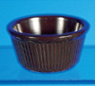 Thunder Group ML532C Fluted Ramekin, Chocolate 4 oz. - 4 doz