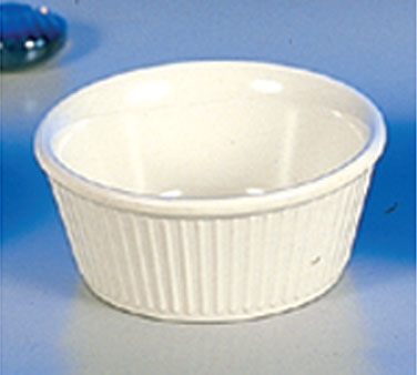 Thunder Group ML533B Fluted Ramekin, Bone 3.5 oz. - 4 doz