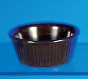 Thunder Group ML533C Fluted Ramekin, Chocolate 3.75 oz. - 4 doz
