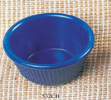 Thunder Group ML533CB Fluted Ramekin, Cobalt Blue 3.5 oz. - 4 doz