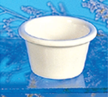 Thunder Group ML535B Smooth Ramekin, Bone 2 oz. - 4 doz