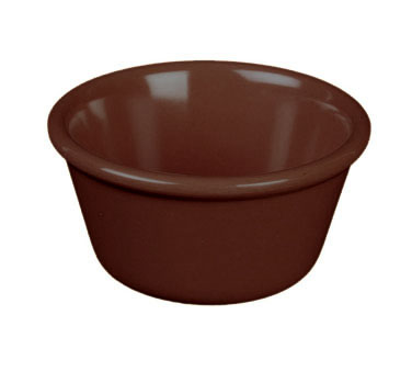 Thunder Group ML536C Smooth Ramekin, Chocolate 2.5 oz. - 4 doz