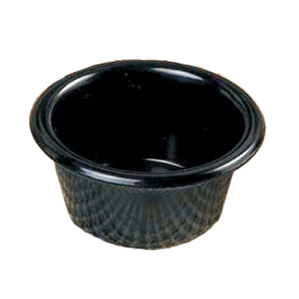 Thunder Group ML539BL Smooth Ramekin, Black 6 oz. - 6 doz