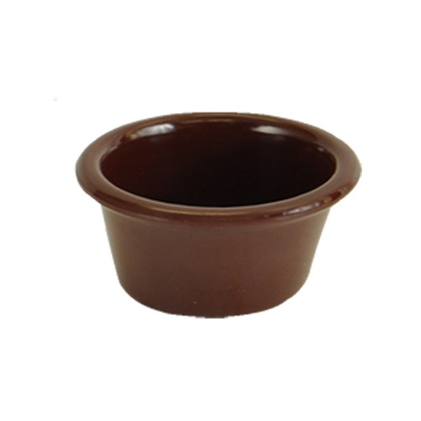 Thunder Group ML539C Smooth Ramekin, Chocolate 6 oz. - 6 doz