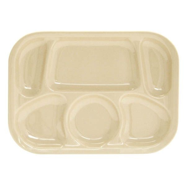 "Thunder Group ML803T Melamine Compartment Tray 13"" x 9 1/2"" - 1/2 doz"