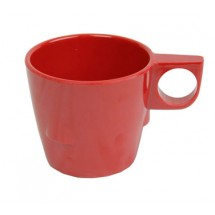 Thunder Group ML9011PR Pure Red Melamine Stacking Cup 7 oz. - 1 doz