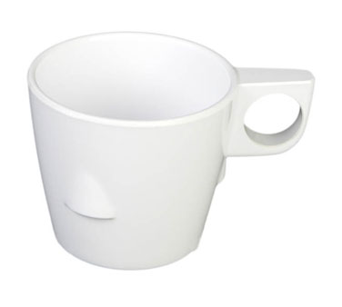 Thunder Group ML9011W White Melamine Stacking Cup 7 oz. - 1 doz