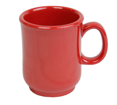 Thunder Group N-901PR Bulbous Mug With Handle, Pure Red 8 oz. - 1 dozen