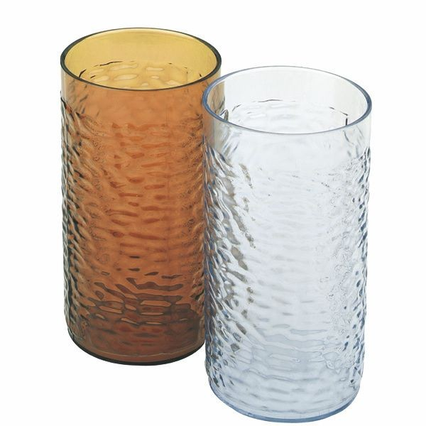 Thunder Group PLPTB016A Amber Pebble Tumbler 16 oz. - 1 doz