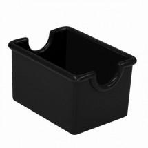 Thunder Group PLSP032BK Black Plastic Sugar Packet Holder - 2 doz