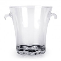 Thunder Group PLTHBK140C Polycarbonate Ice Bucket With Tong 4 Qt.