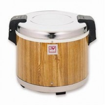 Thunder Group SEJ18000 Rice Warmer With Wood Grain Finish 30 Cup