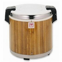 Thunder Group SEJ21000 Rice Warmer With Wood Grain Finish 50 Cup