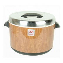 Thunder Group SEJ71000 Wood Grain Insulated Sushi Pot 40 Cup