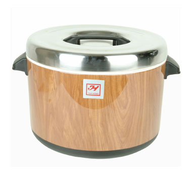 Thunder Group SEJ73000 Wood Grain Insulated Sushi Pot 60 Cup
