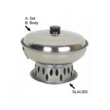 "Thunder Group SLAL01B Alcohol Wok Body 7-1/2"" - 1/2 doz"