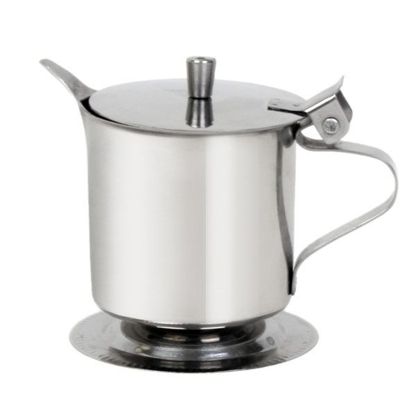 Thunder Group SLFCR005 Stainless Steel Footed Creamer 5 oz. - 12 doz