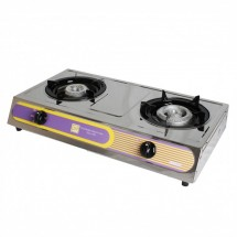 Thunder Group SLST002 Gas Double Burner Countertop Hot Plate