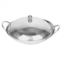 Thunder Group SLWK008 Stainless Steel Wok 8""