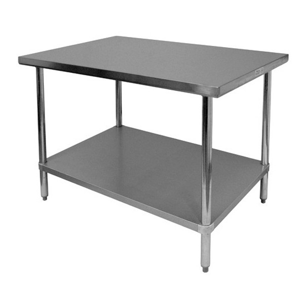 "Thunder Group SLWT42448F Flat Top Worktable 24"" x 48"" x 35"""