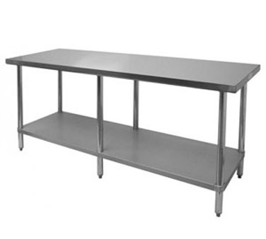 "Thunder Group SLWT42484F Flat Top Worktable 24"" x 84"" x 35"""