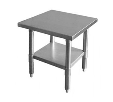 "Thunder Group SLWT43024F Flat Top Worktable 30"" x 24"" x 35"""