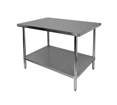 "Thunder Group SLWT43030F Flat Top Worktable 30"" x 30"" x 35"""