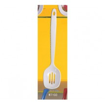 "Thunder Group W7103 Slotted Melamine Serving Spoon 12"" - 2 doz"