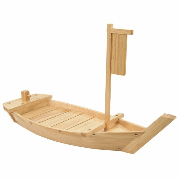 "Thunder Group WOBOAT61 24"" Wood Boat Display Tray"