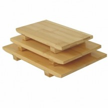 "Thunder Group WSPB003 10"" Large Bamboo Sushi Plate"