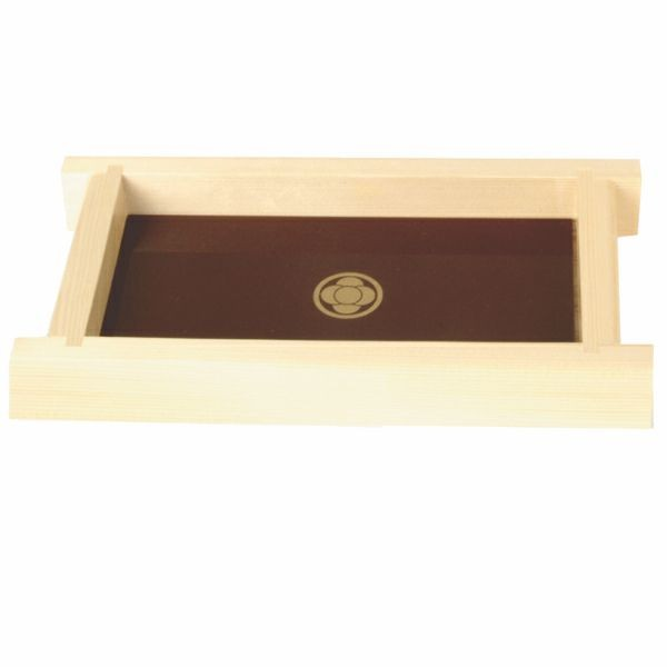 Thunder Group Y-75 Shiraki Wood Shoyu Sauce Tray 9