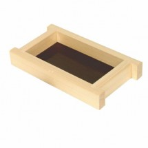 Thunder Group Y-95 Shiraki Wood Shoyu Sauce Tray 4-1/2