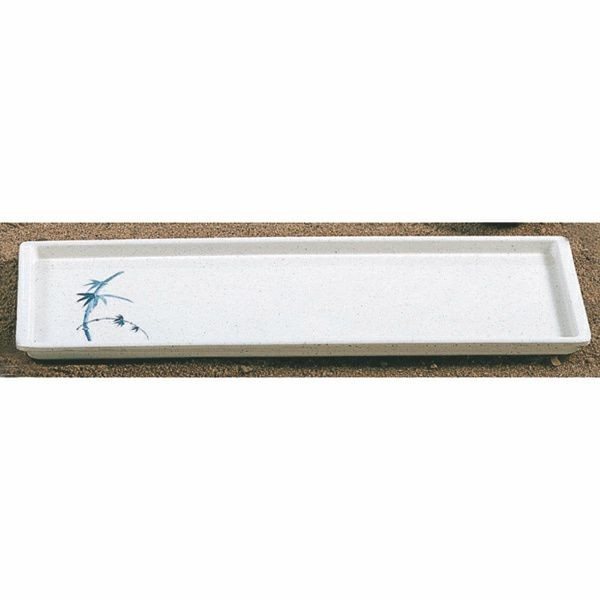 "Thunder Group 0900BB Blue Bamboo Sandwich Tray 13-1/2"" x 4-1/2"""