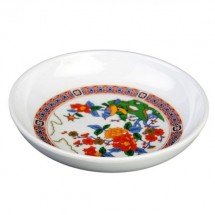 Thunder Group 1003TP Peacock Melamine Sauce Dish 3 oz. - 5 doz.