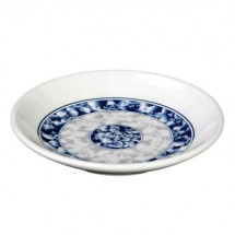 Thunder Group 1004DL Blue Dragon Melamine Plate 4-1/2