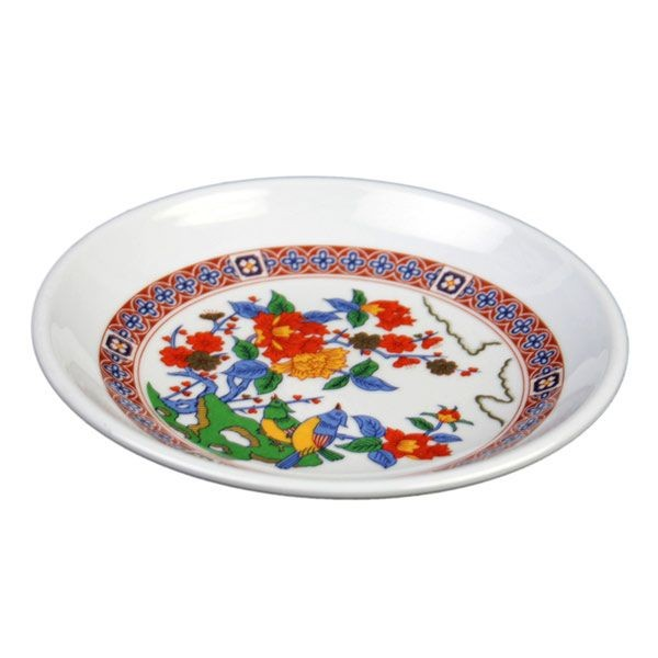 Thunder Group 1004TP Round Peacock Plate 4 oz. - 1 doz
