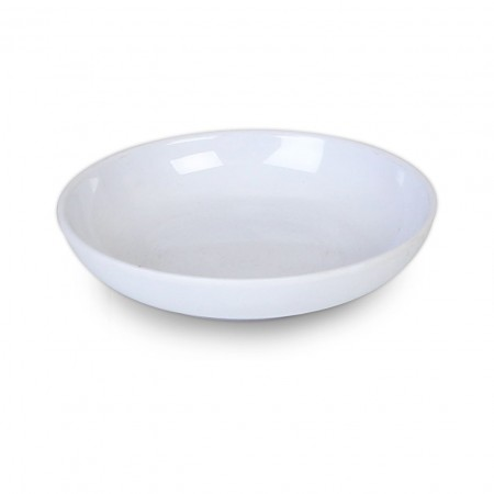 Thunder Group 1004TW Imperial White Melamine Plate 4-1/2""