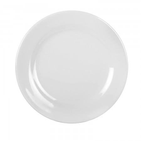 Thunder Group 1006TW Imperial White Melamine Plate 6""