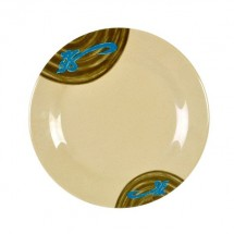 Thunder Group 1008J Wei Asian Round Plate 7-7/8""