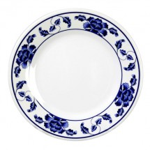 "Thunder Group 1008TB Lotus Melamine Plate 7-7/8"" - 1 doz."