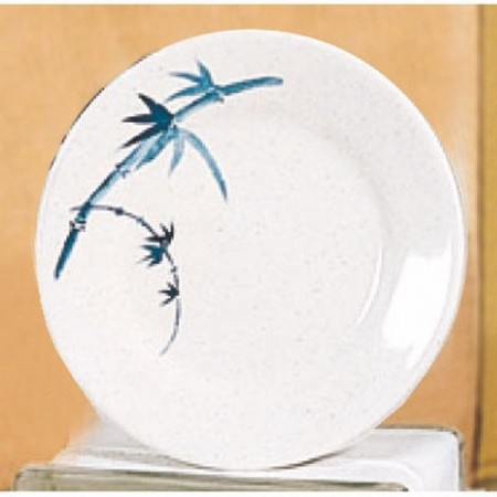 Thunder Group 1010BB Blue Bamboo Melamine Plate 10-3/8""