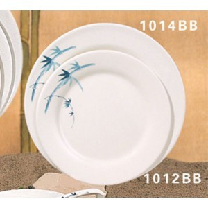 Thunder Group 1012BB Blue Bamboo Melamine Plate 11-3/4""