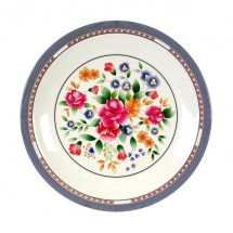 Thunder Group 1015AR Rose Melamine Round Plate 14-3/8