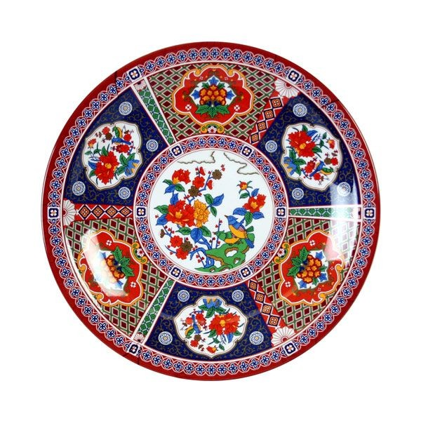 "Thunder Group 1015TP Round Peacock Plate 14-3/8"" - 1 doz"