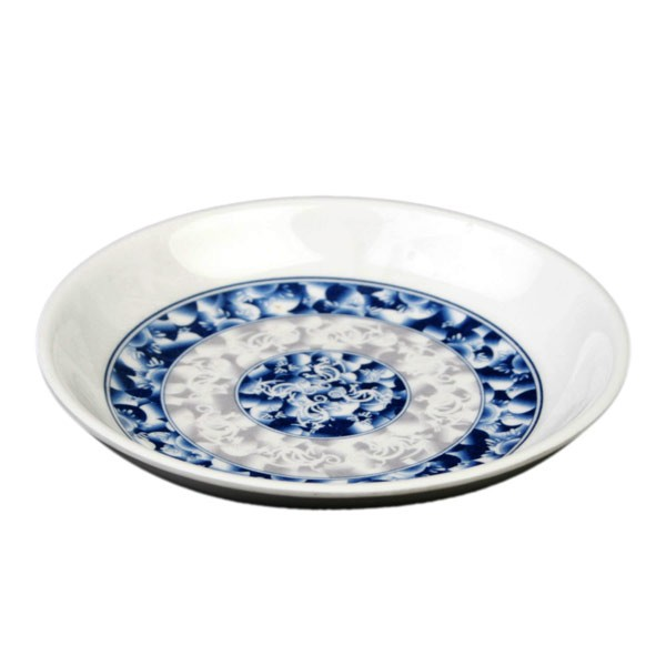 Thunder Group 102.8DL Blue Dragon Melamine Sauce Dish 3-1/2