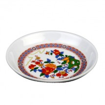 Thunder Group 102.8TP Peacock Melamine Sauce Dish 2 oz. - 5 doz.