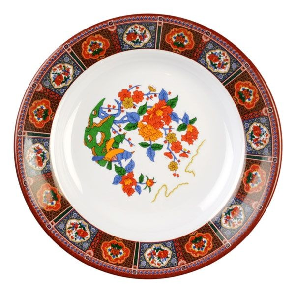 Thunder Group 1107TP Peacock Melamine Soup Plate 5 oz. - 1 doz.